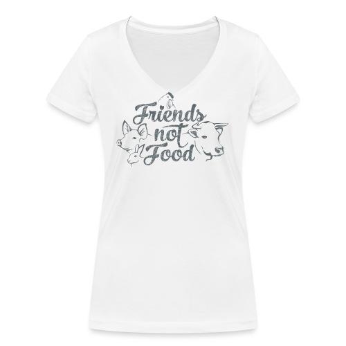 Friends not Food - Frauen Bio-T-Shirt mit V-Ausschnitt von Stanley & Stella