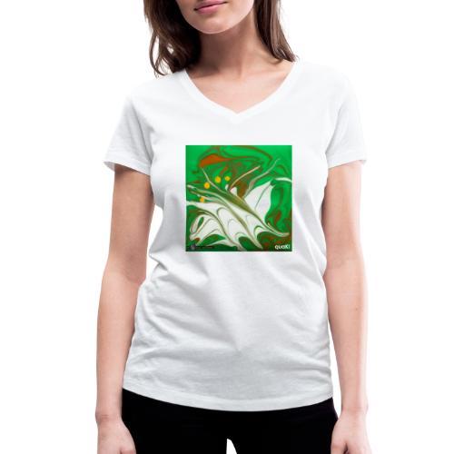 TIAN GREEN Mosaik CG002 - quaKI - Frauen Bio-T-Shirt mit V-Ausschnitt von Stanley & Stella