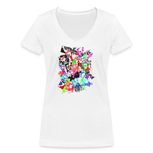 Southside91-Stickerbomb - Frauen Bio-T-Shirt mit V-Ausschnitt von Stanley & Stella