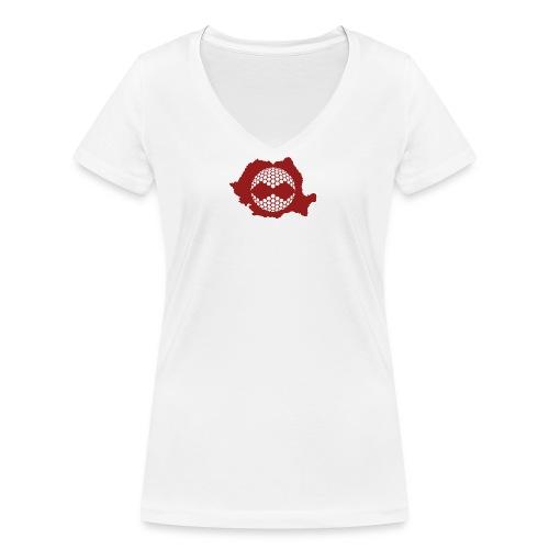 NYNJAS_GOLF_Romania_icon - T-shirt bio col V Stanley & Stella Femme