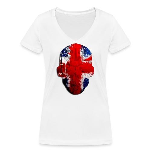 Borg recordings uk Union flag MetaSkull T Shirt - Women's Organic V-Neck T-Shirt by Stanley & Stella