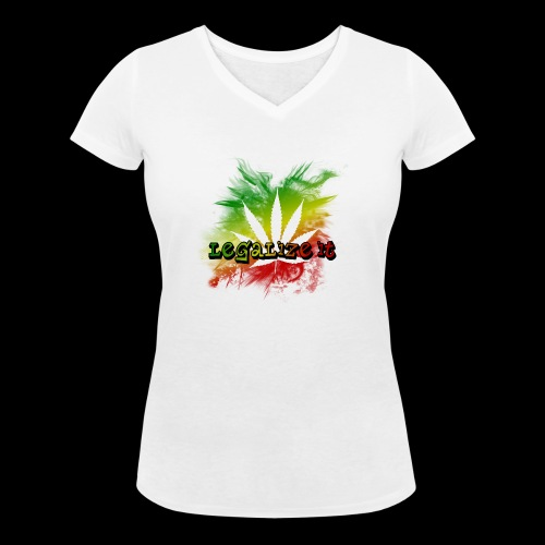Legalize it - Frauen Bio-T-Shirt mit V-Ausschnitt von Stanley & Stella