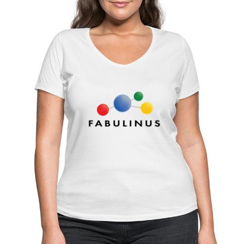 Fabulinus logo dubbelzijdig - Vrouwen bio T-shirt met V-hals van Stanley & Stella