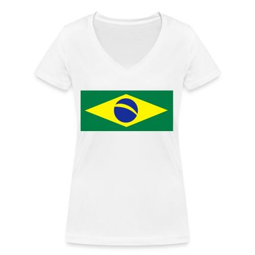 Braslien - Frauen Bio-T-Shirt mit V-Ausschnitt von Stanley & Stella
