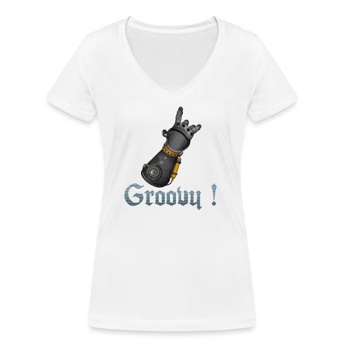 Dungeon Groovy ! - T-shirt bio col V Stanley & Stella Femme