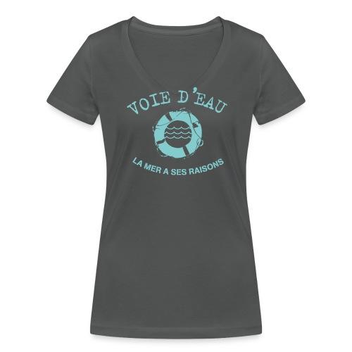 Voie d'eau - T-shirt bio col V Stanley & Stella Femme
