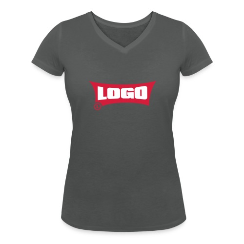 Logo Logo Red Block - Women's Organic V-Neck T-Shirt by Stanley & Stella