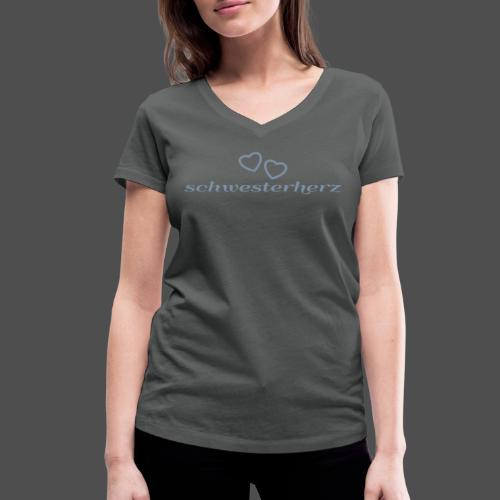 siostra serce - Ekologiczna koszulka damska z dekoltem w serek Stanley & Stella