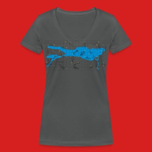 Bodensee Leiterlispiel - Frauen Bio-T-Shirt mit V-Ausschnitt von Stanley & Stella