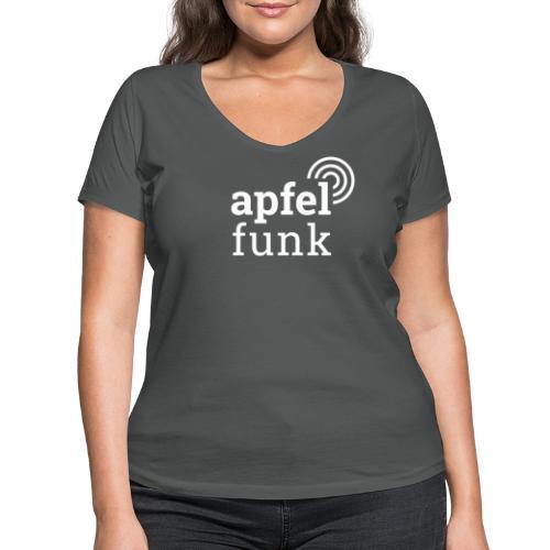 Apfelfunk Dark Edition - Frauen Bio-T-Shirt mit V-Ausschnitt von Stanley & Stella