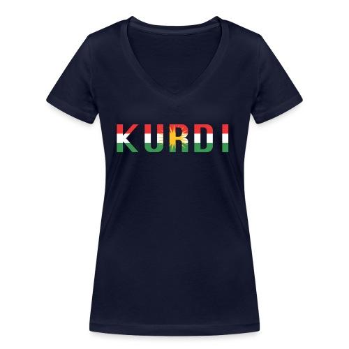 KURDI LOGO - Frauen Bio-T-Shirt mit V-Ausschnitt von Stanley & Stella