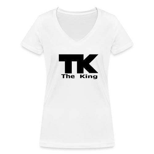 The King med ram - Ekologisk T-shirt med V-ringning dam från Stanley & Stella
