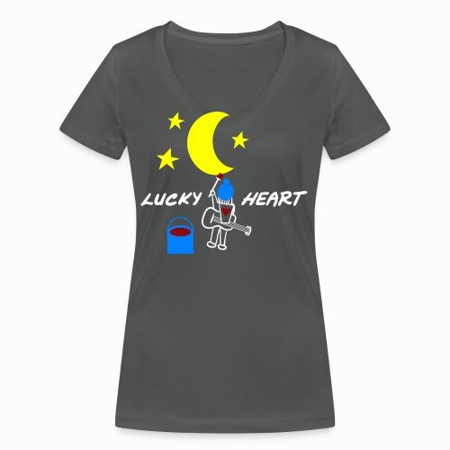 lucky heart painting the on artwork - Frauen Bio-T-Shirt mit V-Ausschnitt von Stanley & Stella