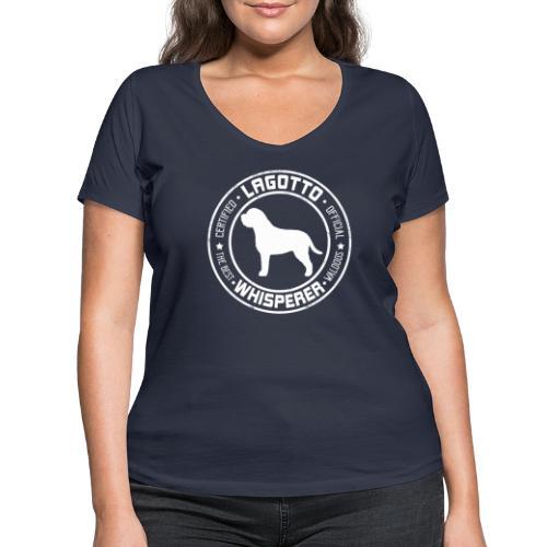 Lagottowhisperer I - Stanley & Stellan naisten v-aukkoinen luomu-T-paita