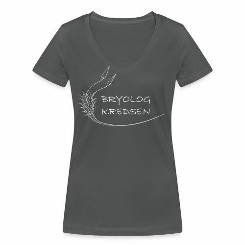 Bryologkredsen - hvidt logo - Økologisk Stanley & Stella T-shirt med V-udskæring til damer