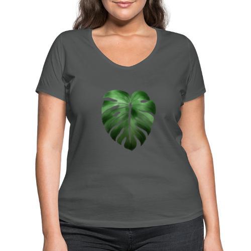 Foglia dalla Natura - T-shirt ecologica da donna con scollo a V di Stanley & Stella