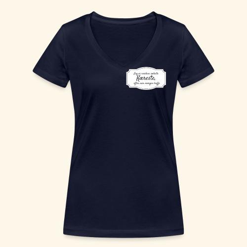Verdens sødeste kæreste - Økologisk Stanley & Stella T-shirt med V-udskæring til damer