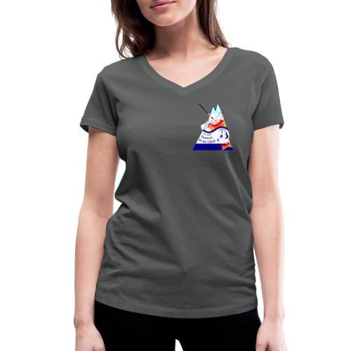 Logo colori - T-shirt ecologica da donna con scollo a V di Stanley & Stella