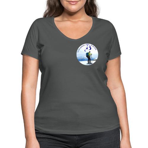 Logo cartone ciaspole - T-shirt ecologica da donna con scollo a V di Stanley & Stella