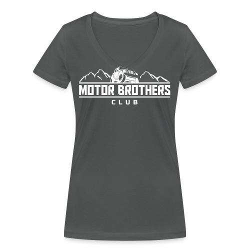 mb_club_white - Frauen Bio-T-Shirt mit V-Ausschnitt von Stanley & Stella