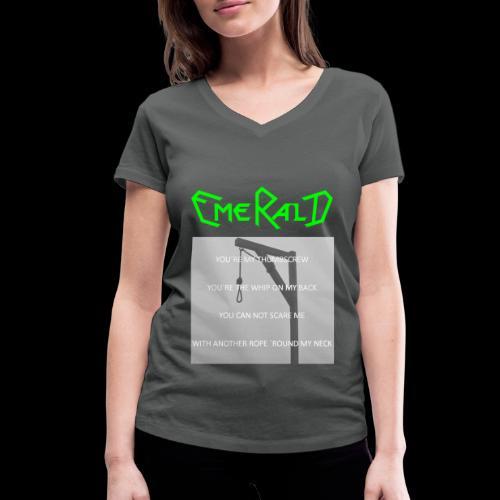 Emerald - Frauen Bio-T-Shirt mit V-Ausschnitt von Stanley & Stella