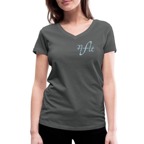 AFLT logo (black) - Women's Organic V-Neck T-Shirt by Stanley & Stella