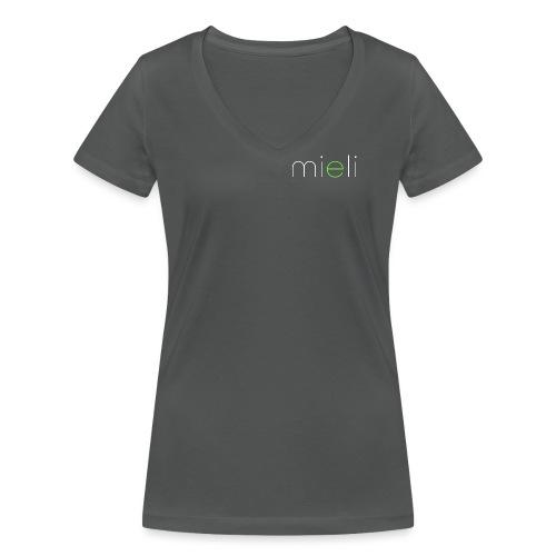 mieli logo light alternative - Frauen Bio-T-Shirt mit V-Ausschnitt von Stanley & Stella