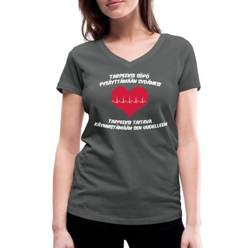 Tarpeeksi söpö pysäyttääkseen sydämesi - Stanley & Stellan naisten v-aukkoinen luomu-T-paita