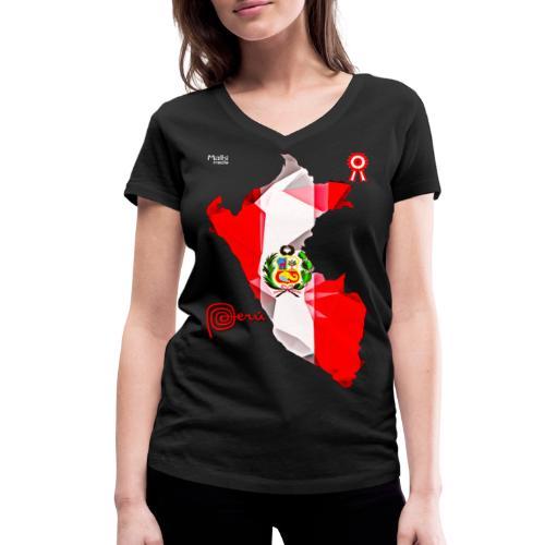 Mapa del Peru, Bandera y Escarapela - Women's Organic V-Neck T-Shirt by Stanley & Stella