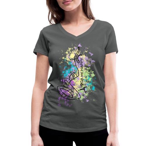 Yoga ME Happy Life 2021 - Frauen Bio-T-Shirt mit V-Ausschnitt von Stanley & Stella