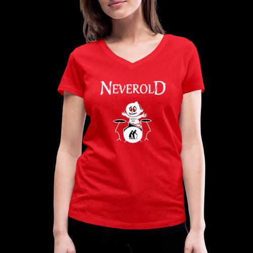 LOGO NEVEROLD - T-shirt bio col V Stanley & Stella Femme