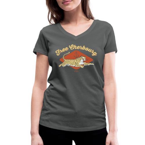 Free Cherbourg - T-shirt bio col V Stanley & Stella Femme