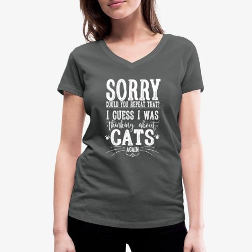 Sorry Cats II - Stanley & Stellan naisten v-aukkoinen luomu-T-paita