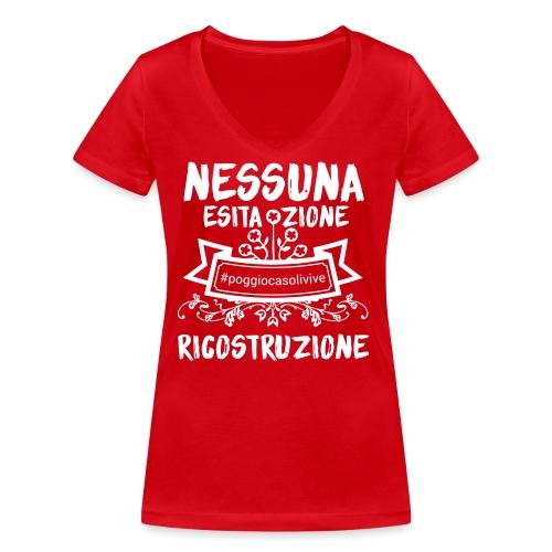 patch ricostruzione Poggio Casoli - T-shirt ecologica da donna con scollo a V di Stanley & Stella