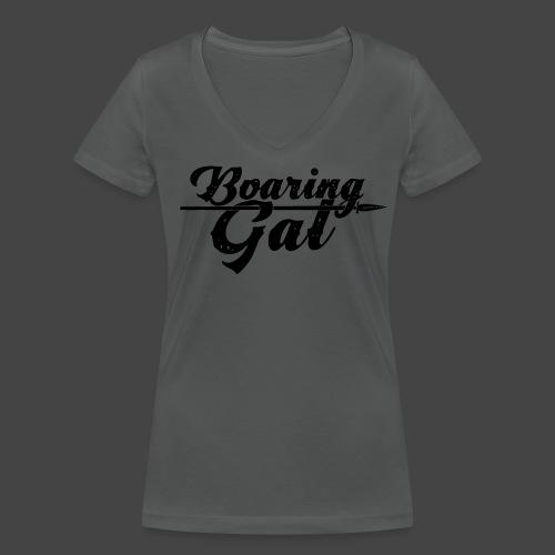 Boaring Gal - Frauen Bio-T-Shirt mit V-Ausschnitt von Stanley & Stella