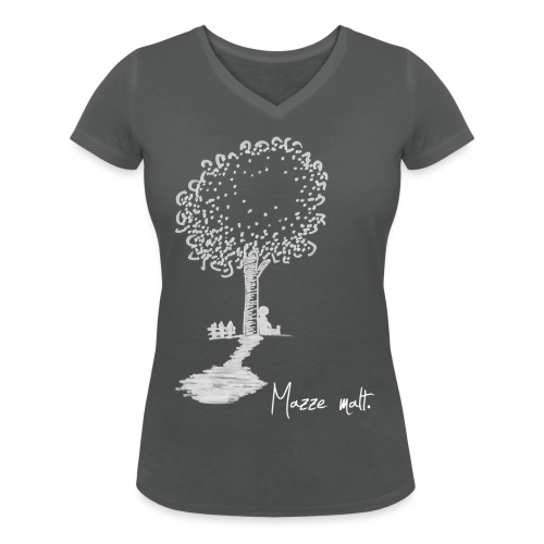 baumweiß - Frauen Bio-T-Shirt mit V-Ausschnitt von Stanley & Stella