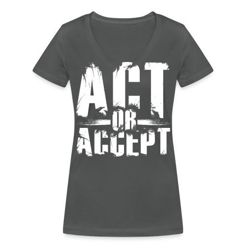 AOA classic - Frauen Bio-T-Shirt mit V-Ausschnitt von Stanley & Stella