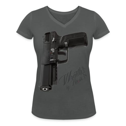 Herstal FN 5 7 kito dk - Women's Organic V-Neck T-Shirt by Stanley & Stella