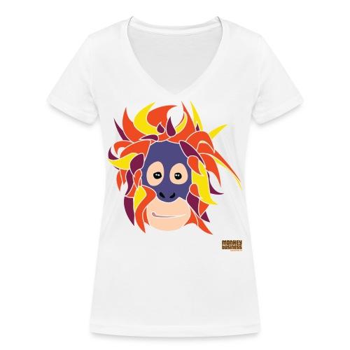 Oppermonkey Illustratie - Vrouwen bio T-shirt met V-hals van Stanley & Stella