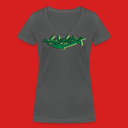 Labelerz Three - Frauen Bio-T-Shirt mit V-Ausschnitt von Stanley & Stella