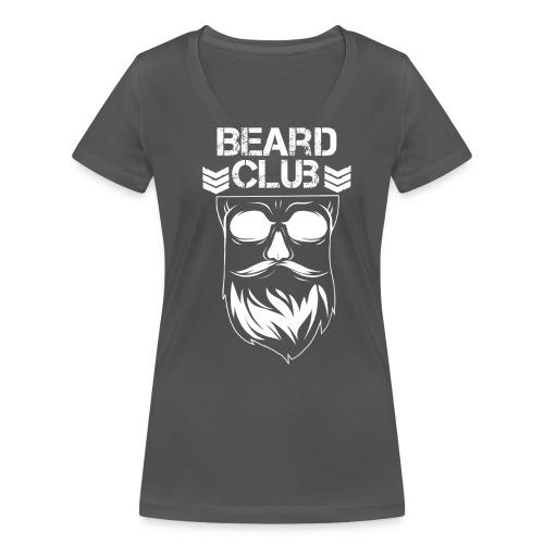 Beard Club weiß - Frauen Bio-T-Shirt mit V-Ausschnitt von Stanley & Stella