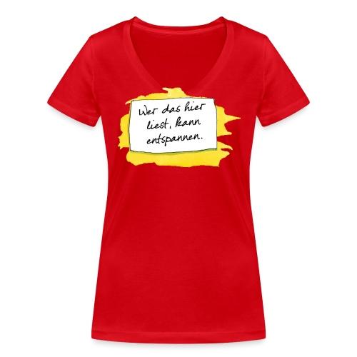 Janosch Wer Das Liest Spruch - Frauen Bio-T-Shirt mit V-Ausschnitt von Stanley & Stella