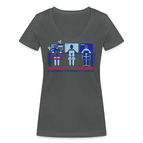 Perseveres - Stanley & Stellan naisten v-aukkoinen luomu-T-paita