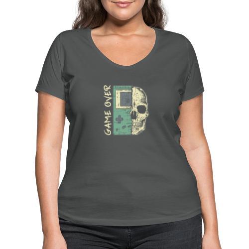 Game over Gaming Spruch Outfit für Zocker Gamer - Frauen Bio-T-Shirt mit V-Ausschnitt von Stanley & Stella