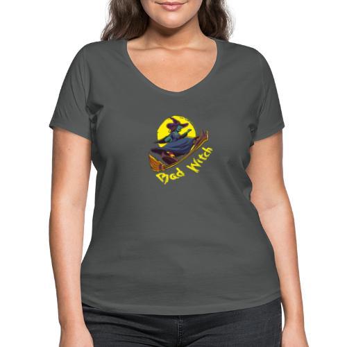 Bad Witch Outfit für Hexen im Kessel brauen - Frauen Bio-T-Shirt mit V-Ausschnitt von Stanley & Stella