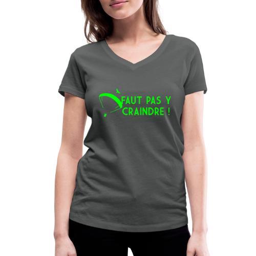 Faut pas y craindre - Parapente - T-shirt bio col V Stanley & Stella Femme