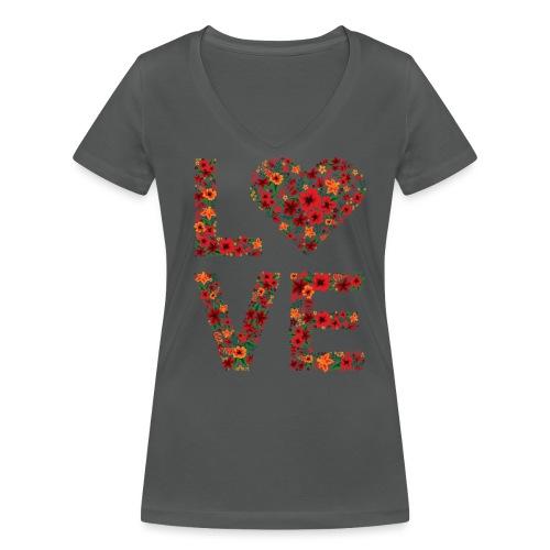 Die wichtigste Botschaft für unsere Welt: LOVE - Frauen Bio-T-Shirt mit V-Ausschnitt von Stanley & Stella