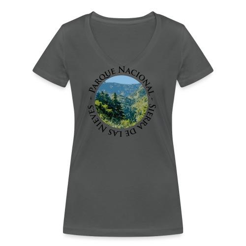 Parque Nacional Sierra de las Nieves - Camiseta ecológica mujer con cuello de pico de Stanley & Stella