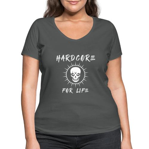 H4rdcore For Life - Women's Organic V-Neck T-Shirt by Stanley & Stella