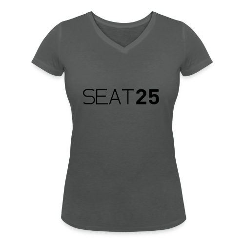 Seat25 Logo Dark - Women's Organic V-Neck T-Shirt by Stanley & Stella